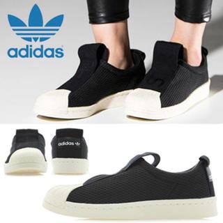 アディダス(adidas)の新品 アディダスオリジナルズ スーパースター スリッポン 黒/ブラック (スニーカー)