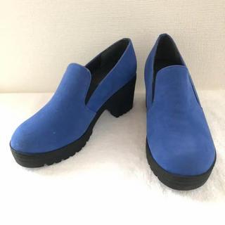新品◎ブルー サイドゴア シューズ◎ローファー(ローファー/革靴)