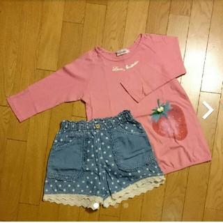 ティンカーベル(ティンカーベル)のティンカーベル 七分袖 ピンク 130㎝(Tシャツ/カットソー)