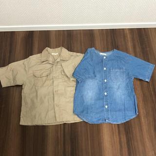 ジーユー(GU)のGU シンプル 半袖 シャツ セット(Tシャツ/カットソー)