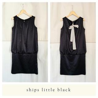 シップス(SHIPS)のシップス/ノースリーブワンピース/ブラック/リトルブラックドレス/美品/結婚式(ミディアムドレス)