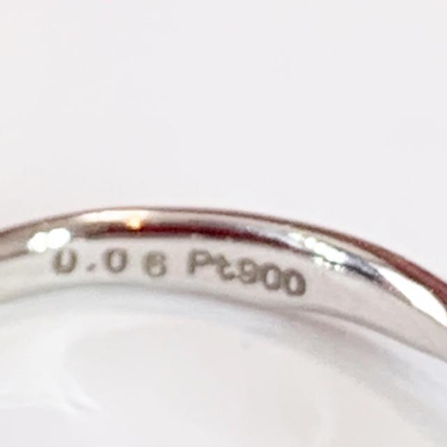 ELLE(エル)のプラチナ ダイヤモンド ピンキーリング レディースのアクセサリー(リング(指輪))の商品写真