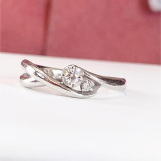 エル(ELLE)のプラチナ ダイヤモンド ピンキーリング(リング(指輪))