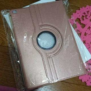 アイパッド(iPad)のiPad 人気色ピンクゴールド 9.7 Air Air2 手帳型 軽量 スタンド(iPadケース)
