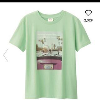 ジーユー(GU)のGU 新品タグつき バービーTシャツ Mサイズ(Tシャツ(半袖/袖なし))