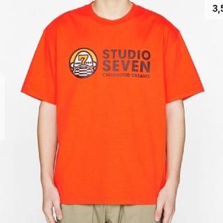 ジーユー(GU)のヘビーウェイトビッグT(半袖)STUDIO SEVENORANGE色メンズXL(Tシャツ/カットソー(半袖/袖なし))