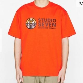 ジーユー(GU)のヘビーウェイトビッグT(半袖)STUDIO SEVENORANGE色メンズL(Tシャツ/カットソー(半袖/袖なし))