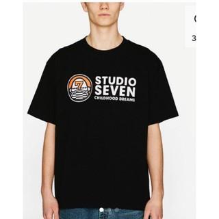 ジーユー(GU)のヘビーウェイトビッグT(半袖)STUDIO SEVENBlack色メンズMサイズ(Tシャツ/カットソー(半袖/袖なし))