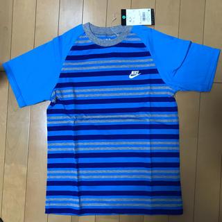 ナイキ(NIKE)の新品 ナイキ NIKE  ボーダー Tシャツ  150(Tシャツ/カットソー)