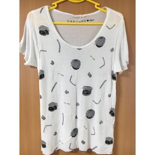 ジーユー(GU)のGUハンバーガーtシャツ(Tシャツ(半袖/袖なし))
