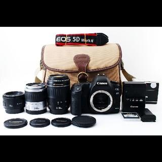 キヤノン(Canon)のキャノン Canon 5D Mark II トリプルレンズセット#430979(デジタル一眼)