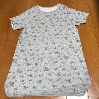 ジーユー(GU)のジーユー 寝巻き パジャマ 101匹 ディズニー ルームワンピース(ルームウェア)