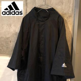 アディダス(adidas)の【80's 90's古着】アディダス adidas ジャケット ブラック 七分袖(ブルゾン)
