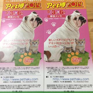 マリーゴールド様専用 Pet博 2019 チケット2枚(その他)