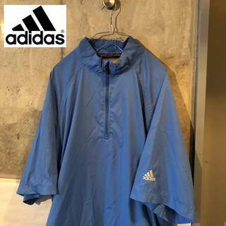 アディダス(adidas)の【80's 90's古着】アディダス adidas プルオーバー 七分袖 ブルー(ナイロンジャケット)