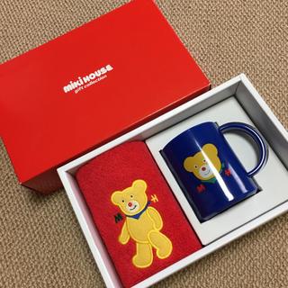 mikihouse - 新品■ミキハウス■ギフトコレクション/レトロ/ハンドタオル+マグカップ