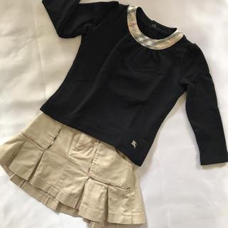 バーバリー(BURBERRY)のバーバリー セットアップ♡女の子100センチ♡トップス&スカート(ワンピース)