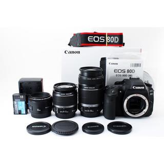 キヤノン(Canon)の★写真も動画も高性能♪WiFi搭載★キャノン EOS 80D トリプルレンズ(デジタル一眼)