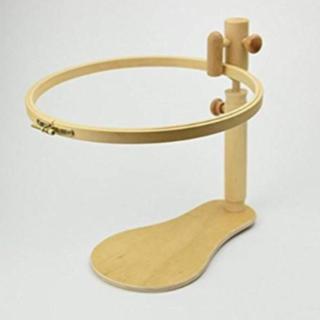★新品未使用 ハンズフリー スタンド式 刺しゅう枠 木製