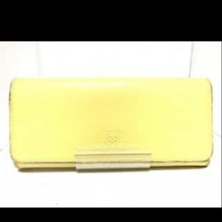 42af90cf585d ロエベ(LOEWE)のロエベ 長財布 フラップ ロングウォレット 黄色 イエロー 革 レザー 男女