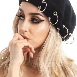 リングベレー帽 ブラック