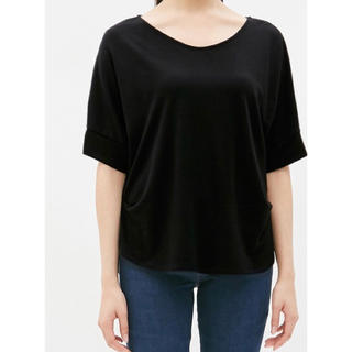 ジーユー(GU)のGU  2WAYタックT(5分袖)GN(Tシャツ(半袖/袖なし))