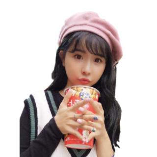 ★新品 レディース PUNK 帽子 ベレー帽 キャップ ハット 韓流 (ピンク)