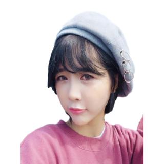 ★新品 レディース PUNK 帽子 ベレー帽 キャップ ハット 韓流 (ライト)