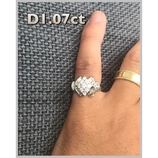 Pt900 天然ダイヤモンドD1.07ct付リング^_^(リング(指輪))
