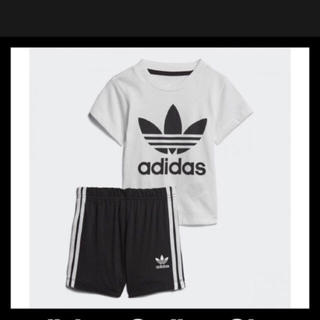 アディダス(adidas)のアディダス オリジナルス 半袖 短パン セットアップ 新品 キッズ 90 黒(その他)