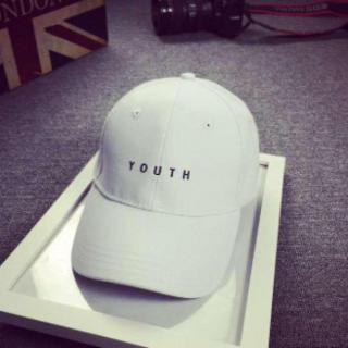 110★白 YOUTH ワンポイント シンプル キャップ 帽子★
