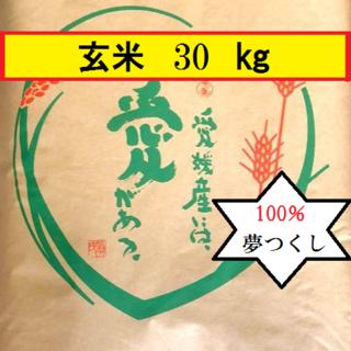 お米 H30 夢つくし 玄米 30㎏