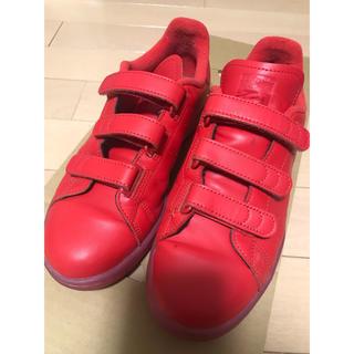 アディダス(adidas)のスタンスミス赤ベルクロ(スニーカー)