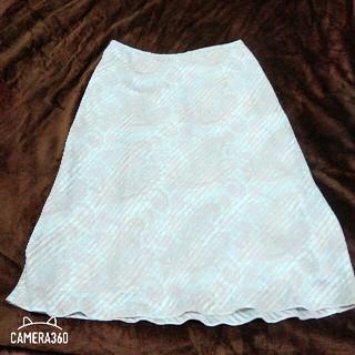 アリスバーリー(Aylesbury)のスカート 膝丈 水色 Aylesbury アリスバーリー 上品 綺麗 9号 M(ひざ丈スカート)