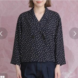 ケービーエフ(KBF)のkbf 変形ドットオープンカラーシャツ(シャツ/ブラウス(長袖/七分))