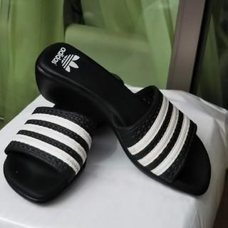 アディダス(adidas)のaddidas レディースサンダル6cmヒール(サンダル)