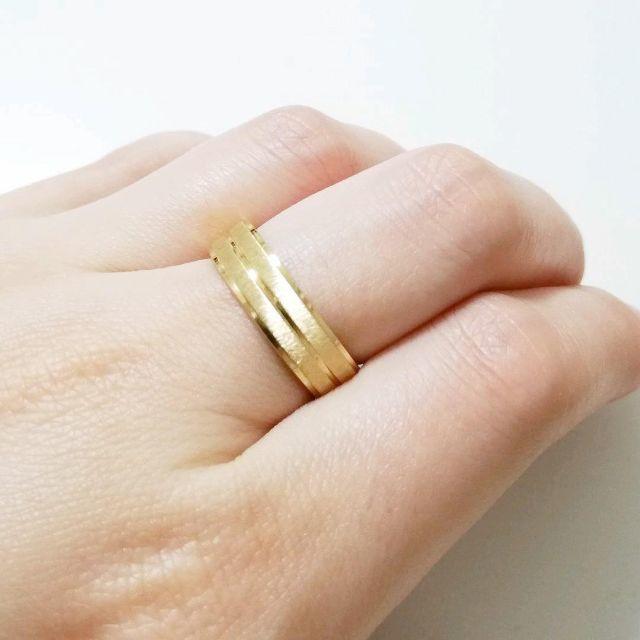 ゴールドラインリング 6mm幅 単品 メンズのアクセサリー(リング(指輪))の商品写真