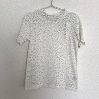ジーユー(GU)の新品 レースカットソー(カットソー(半袖/袖なし))