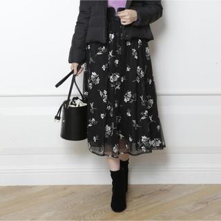 マイストラーダ  フラワー刺繍チュールスカート