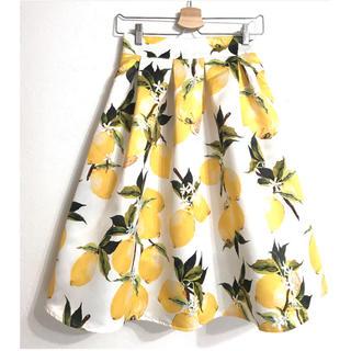 レモン柄 スカート