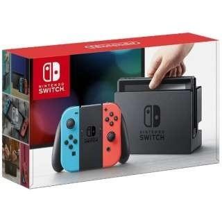 ニンテンドースイッチ(Nintendo Switch)のニンテンドースイッチ ネオンブルー/ ネオンレッド(家庭用ゲーム本体)