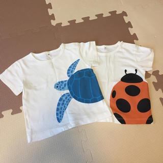 ムジルシリョウヒン(MUJI (無印良品))の無印良品☆アニマルTシャツ 80(Tシャツ)