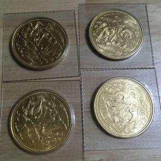 【送料保証込み】天皇陛下在位60年記念10万円金貨4枚②(貨幣)
