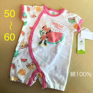 3240cf6206788 ディズニー(Disney)の新品 新生児 女の子☆ディズニーベビー 半袖 夏 プレオール☆ミニー