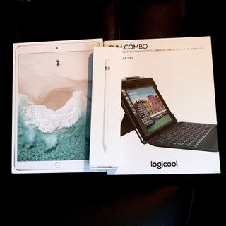 アイパッド(iPad)の【美品】iPad Pro 10.5インチ+Apple Pencil+キーボード(タブレット)