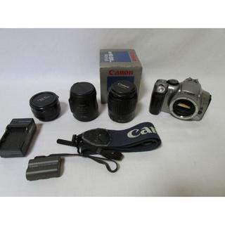 キヤノン(Canon)の超望遠400mm可能 キヤノン「EOS KISS digital」+レンズ3本(デジタル一眼)