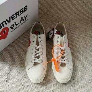 コンバース(CONVERSE)のCDG Play x Converse 布靴 カップル(スニーカー)