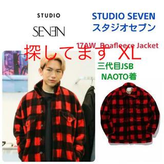 求 XL studio seven ボア フリース ジャケット 赤 NAOTO