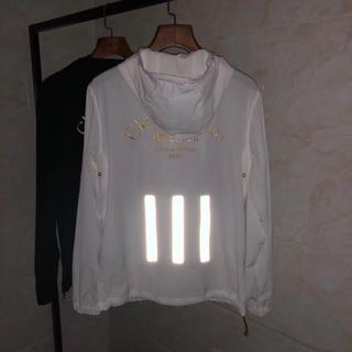 CHRISTIAN DIOR薄いジャケット日焼け防止衣メンズLサイズホワイト