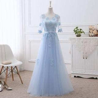 花嫁のドレス レディース二次会 半袖 パーティードレス ブライズメイドドレス